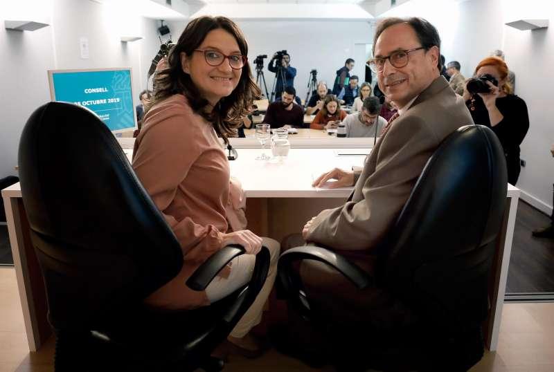 Mónica Oltra y Vicent Soler/EFE