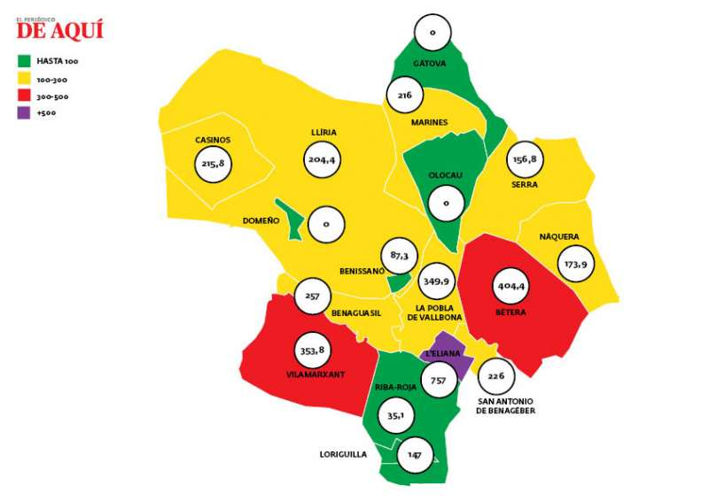Mapa de la comarca. EPDA.