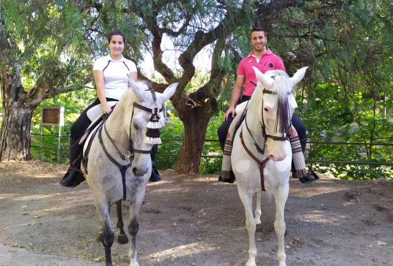 Nerea y Dani con Hospitalario y Greco