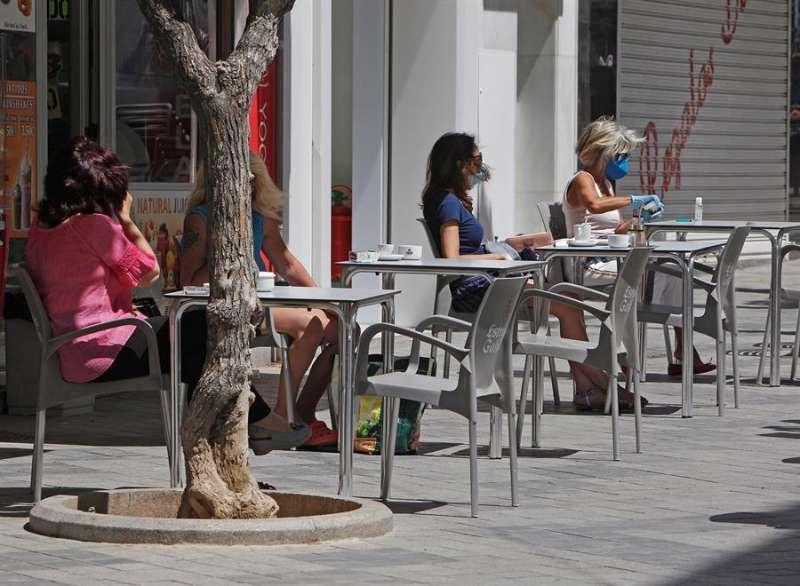Una terraza de un bar