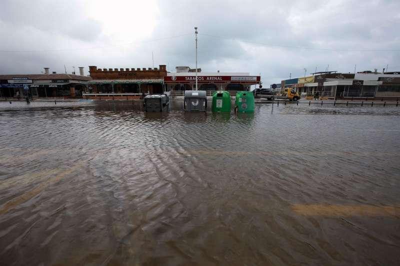 Imagen de unas recientes inundaciones en Xàbia (Alicante). EFE