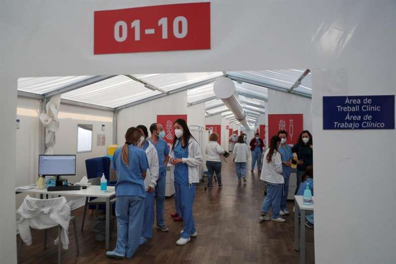 Centro de vacunación. EFE