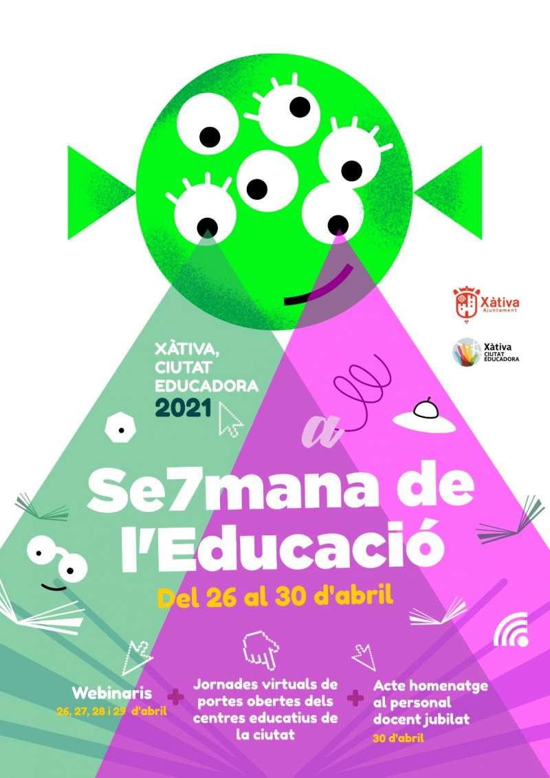 Cartel de la Semana de la Educación de Xàtiva.