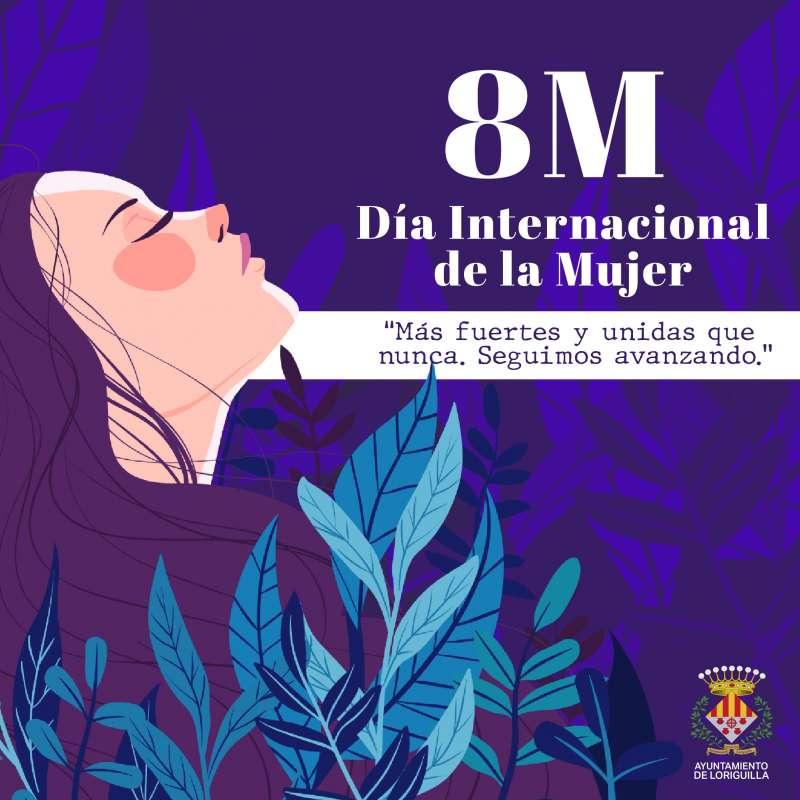 Cartel conmemorativo del 8M en Loriguilla. / EPDA
