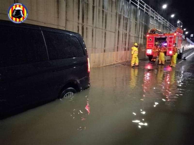 Una de las intervenciones por lluvia de las últimas horas del Consorcio de Bomberos de Valencia.