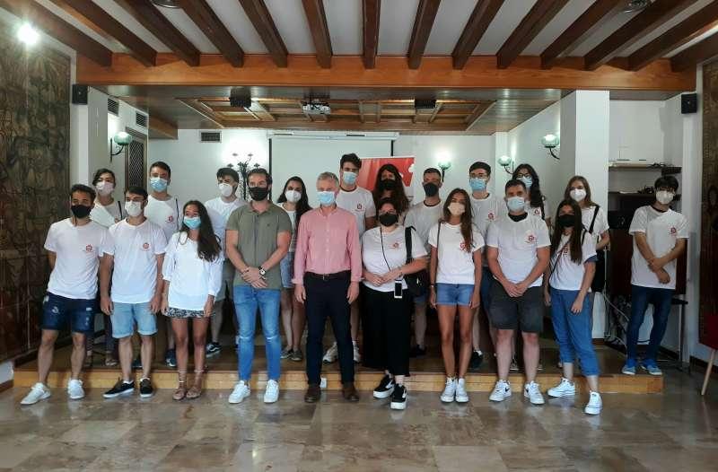 Els estudiants becats per a les pràctiques. EPDA.