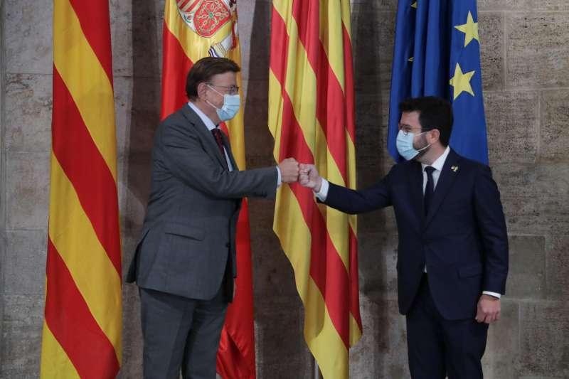Ximo Puig y Pere Aragonés