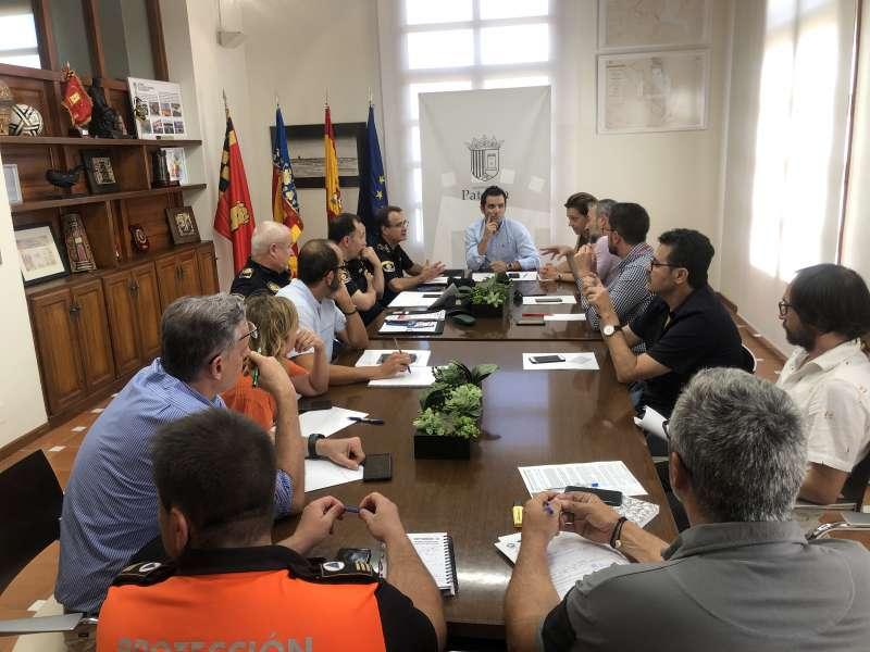 Reunión de los responsables de emergencias de Paterna. EPDA