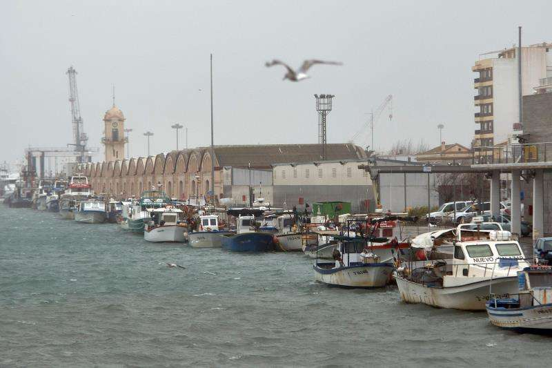 Vista general del puerto de Gandia, cerrado hoy al tráfico marítimo debido a las malas condiciones meteorológicas. EFE/Archivo