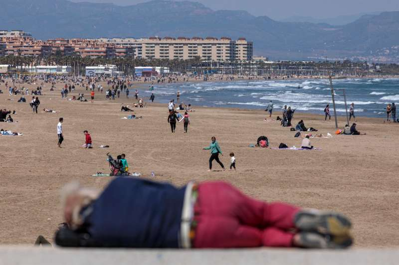 Playa de la Malvarrosa. EFE/Biel Aliño/Archivo